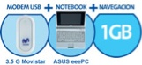 Asus eeePC UMPC con Movistar y con acceso a internet 3.5 G