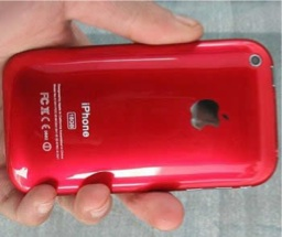 iPhone 3G red color rojo