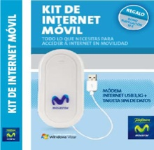 Kit de Internet Movil de Telefonica, modem USB 3,5G