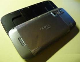 Nokia E75 parte trasera