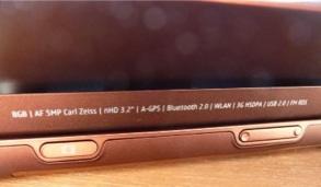 foto de especificaciones técnicas del Nokia N97 Mini foto