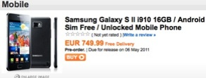 Precio Samsung Galaxy S II libre