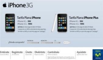 Tarifa Plana iPhone e iPhone Plus 3G contrato con Movistar en Espaa
