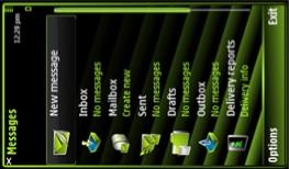 teme verde para Nokia 5800 XpressMusic