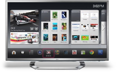 Google TV de LG, televisor 3D Internet