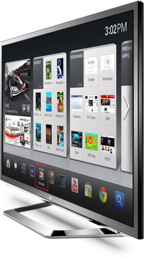Google TV de LG, televisor 3D Internet 2