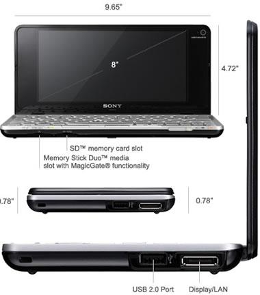 portatil Sony Vaio Serie P
