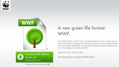 wwf formato