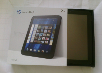 hp touchpad unboxing