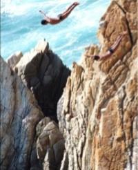 Clavadistas Acapulco Mexico foto