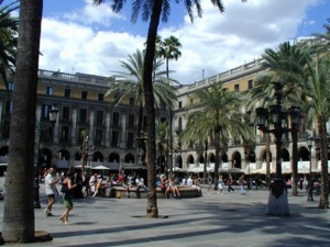 Foto de la Plaza Real, Barcelona, España