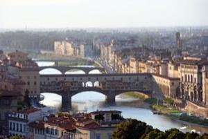 Panorámica de Florencia y río Arno
