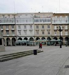 Foto de la plaza de maria pita La Corua