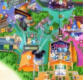 Mapa Walt Disney Studios - Eurodisney o Disneyland Resort Paris