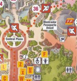 Mapa o Plano Eurodisney o Disneyland Resort Paris Studios