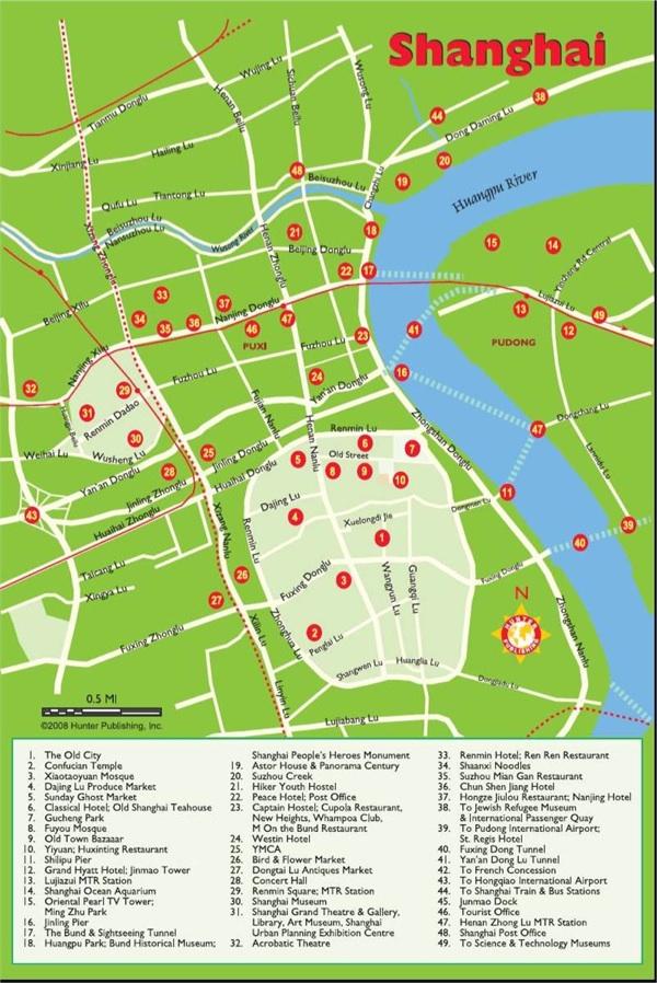 mapa o plano de Shanghai China