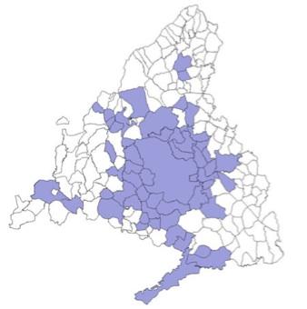 Mapa de los Municipios de Madrid