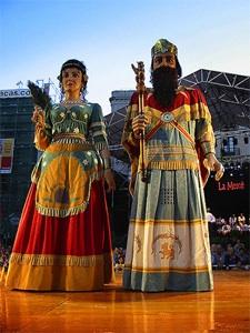 Foto de gigantes de la Fiesta de la Merce, Barcelona