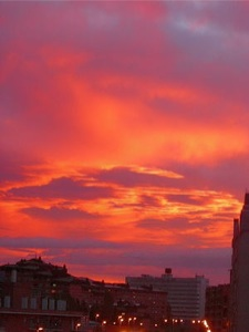 Foto del amanecer en Pamplona