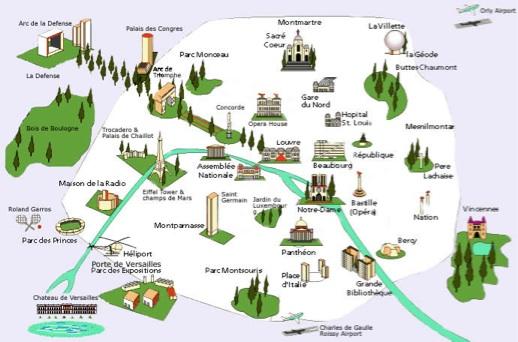 Mapa de Paris