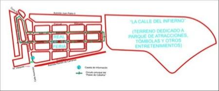 Plano de la Feria de Abril