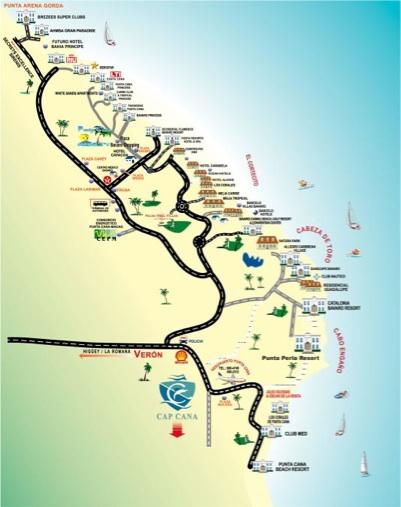 mapa de punta cana