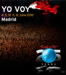 Cartel Rock in Rio 2010 Madrid