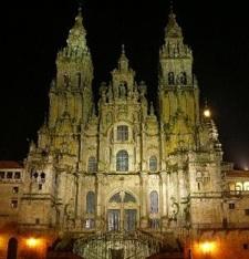 Foto de Santiago de Compostela de noche