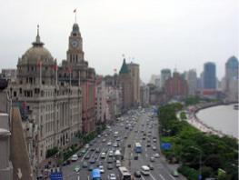 Foto aerea del Bund, Shanghai